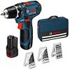 Perceuse sans-fil Bosch Prol GSB 12V-15 + 39 accessoires + 2 Batteries 2 AH à 111,99 €