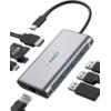 Hub Aukey USB C 8 en 1 (USB 3, HDMI 4K, RJ45, lecteur SD/MicroSD, PD 100W) à 22,09 € (code GPRM4HXA)
