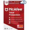 McAfee Total Protection 2021 (10 appareils, 1 an) à 22,95 €