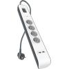 Multiprise Parafoudre Belkin 4 prises, 2 ports USB 2.4A et cordon de 2 mètres à 17,99 €